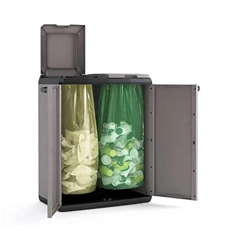 Keter 9736000 Split Cabinet Recycling Basic Raccolta Differenziata Grigio 68 39 85 cm Keter 8013183098940 Grigio 9736000 Giardino Terrazza