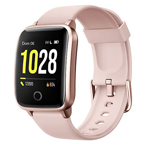 Willful Smartwatch Orologio Fitness Uomo Donna Fitness Tracker Contapassi Calorie Cardiofrequenzimetro polso Impermeabile IP68 Smart Watch Cronometro Notifiche Messaggi Android iOS Willful Rosa WF025-PK-F-IT9