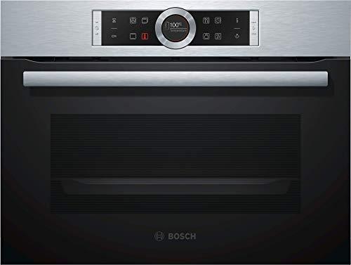 Bosch CBG635BS3 Serie 8 - Forno vapore compatto incasso 47 acciaio INOX porta battente display TFT 13 tipi riscaldamento AutoPilot 10 EcoClean Direct SoftClose SoftOpen Bosch 4242005110810 Inox Nero CBG635BS3