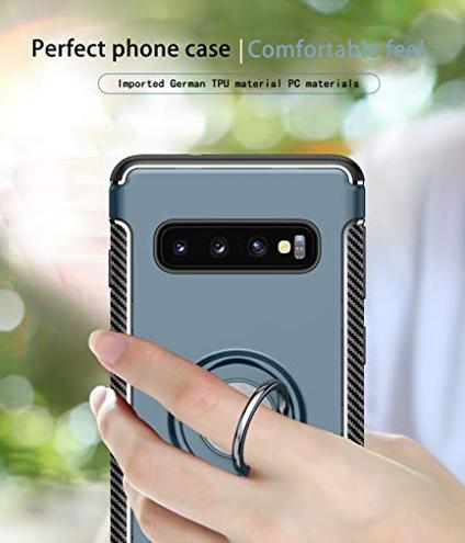 SHIEID Custodia Samsung Galaxy S10 Anello Girevole 360 Protezione cavalletto Montare Il Supporto Magnetico Cover Samsung Galaxy S10 Blu Navy SHIEID 6995050272597 Blu navy Samsung Galaxy S10