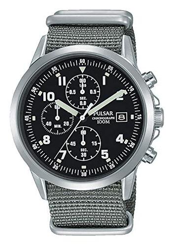 Pulsar Orologio cronografo uomo stile militare PM3129X1 Seiko Grey PM3129X1 Orologio