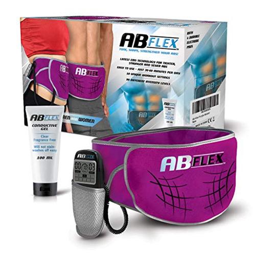 ABFLEX Cintura addominale muscoli addominali snelli tonici - Nessun cuscinetto ricambio mai - Comodo telecomando regolazioni facili veloci - risultati rapidi Ab Flex 0850017120266 Viola