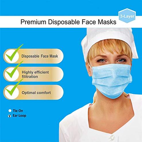 AD ADTRIP 50PCS Mascarilla desechable Mascarilla bucal transpirable prueba de polvo Maschera anti-polvere monouso Earloop AD ADTRIP 0761882076056