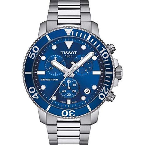 Tissot Seastar 1000 T120 417 11 041 00 Cronografo uomo Tissot 7611608287620 Argento T1204171104100 Orologio