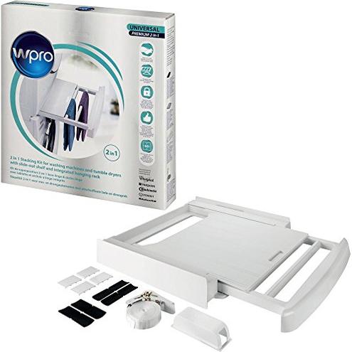 SKP101 WPro Kit colonna bucato universale premium - ripiano stendibiancheria Whirlpool - Wpro 8015250476002 SKP101 Casa