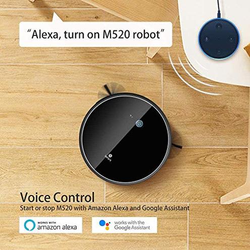 Aspirapolvere Robot Aspirazione 2200Pa Controllo WiFi Funziona Alexa Google Mappatura Intelligente Silenzioso Autocaricante Aspirapolvere Robot- Lefant M520 LEFANT 0681599159937