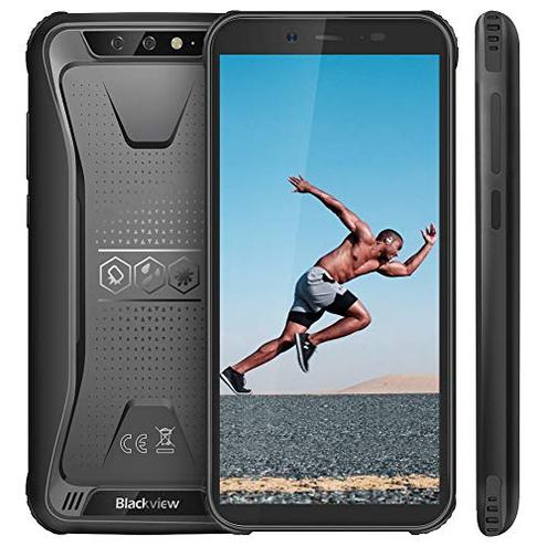 Rugged Smartphone Blackview BV5500 Outdoor Smartphone Dual Sim 4400mAh 16GB 2GB 32GB Espandibili 8MP 2MP Android 8 1 Cellulare Antiurto 5 5 HD Face ID GPS Bussola WIFI Hotspot Italia Blackview Nero BV5500 Wireless