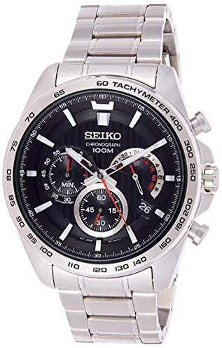 Seiko Orologio Cronografo Quarzo Uomo Cinturino Acciaio Inox SSB299P1 Seiko 4954628220332 Nero SSB299P1 Orologio