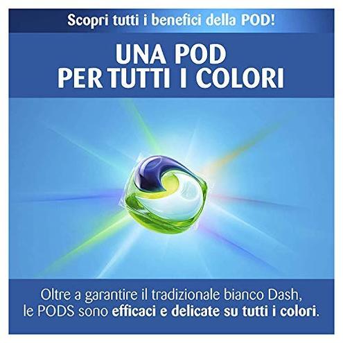 Dash Allin1 PODS Detersivo Lavatrice Capsule Ambra Maxi Formato 2 66 132 Lavaggi Dash 8001841315171 Multicolore 81703672 Salute bellezza