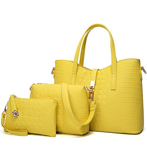 TcIFE Borse Donna Tracolla Borsetta Borsa Mano Tote TcIFE 4-giallo NJSB00034EU-Yellow