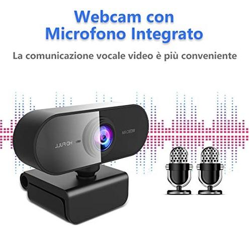 NIYPS Webcam PC Microfono Full HD 1080P Webcam USB PC Fisso Laptop Mac USB 2 0 Videocamera Videochiamate Studio Conferenza Registrazione Gioca Giochi Lavoro Casa NIYPS