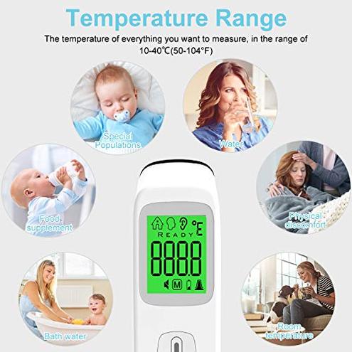 Termometro Frontale Infrarossi UNTIRE Termometro Digitale Senza Contatto Adatto Neonati Bambini Adulti Letture istantanee Accurate UNTIRE 0768253096439 UN-071010