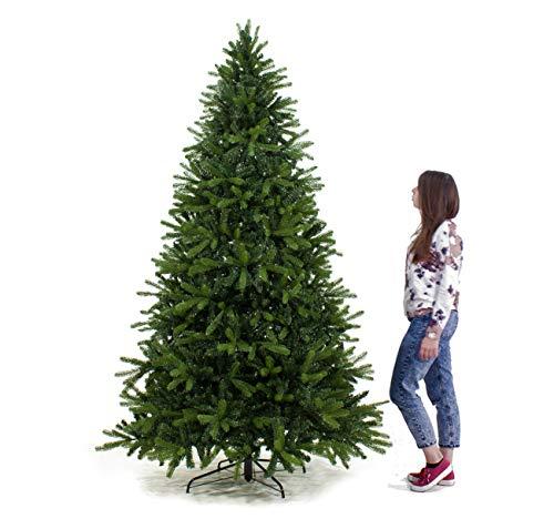 Joy Christmas Albero Natale Dallas 240 cm Abete Artificiale Rami Silicone PVC Joy Christmas 8030551430287