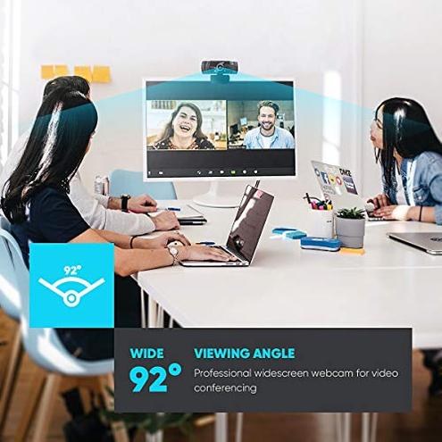 Nulaxy Webcam Full HD 1080p otturatore Privacy videochiamate correzione Luce HD Funziona Skype Zoom FaceTime Hangouts PC Mac Laptop Smart TV Nulaxy C900