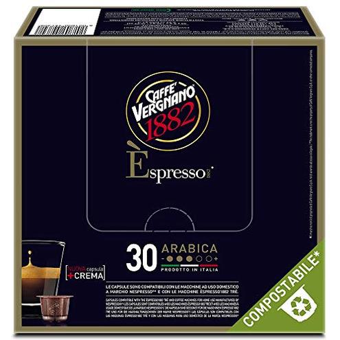 Caff Vergnano 1882 spresso Capsule Caff Compatibili Nespresso Compostabili Arabica- 8 confezioni 30 capsule totale 240 Caff Vergnano 1882 8001800473089 Caffe' Vergnano 1882 54730