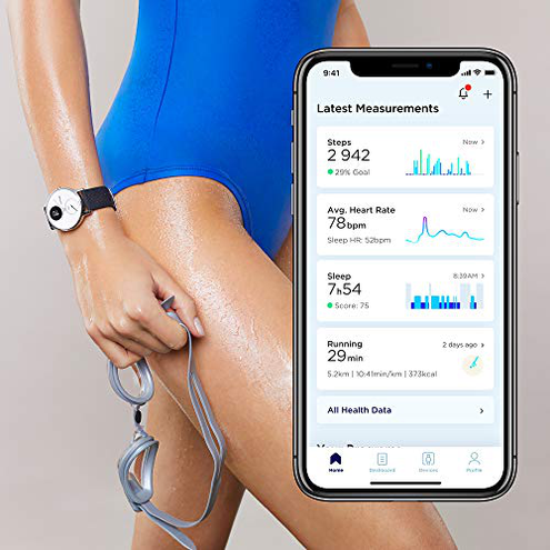 Withings Steel HR Smartwatch Ibrido Orologio sportivo misurazione frequenza cardiaca dell'attivit sonno notifiche Withings 3700546704260 Oro Rosa 36white - RG - Grey-All-Inter Sport