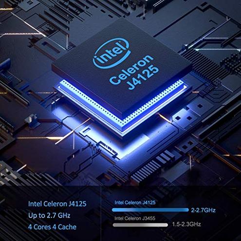 Mini PC 6GB RAM 120GB ROM Intel Celeron J4125 Supporto 2 5'' SATA SSD HDD Windows 10 Pro 64-bit Dual WiFi 2 4 5G Bluetooth 4 2 4K HD 2 HDMI 1 VGA Porta AK3 Mini Computer Desktop ACEPC
