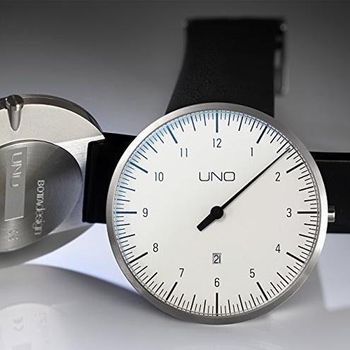 Botta design orologio polso uomo einzeiger Orologio analogico quarzo cinturino pelle Bianco 711010 Botta-Design 4260271611367 Bianco 711010