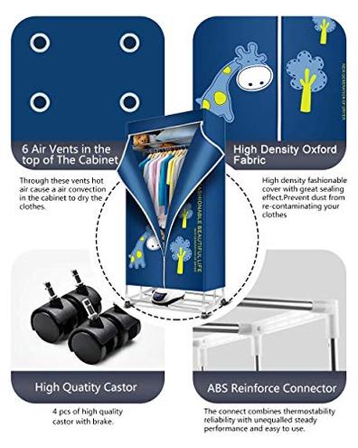 ZQY Dryer Portable 3 Strati Pieghevole Stendino Risparmio energetico Negativo Ion asciugatrice temporizzatore Automatico Digitale Telecomando ZQY 8173144245889 Cucina