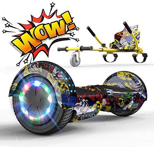 RCB Hoverboard Elettrico Scooter Hoverkart Go-Kart Costruito luci LED Bluetooth Speaker Regalo Bambini Adulti Ruote 6 5'' Regalo Natale RCB Anca Anca