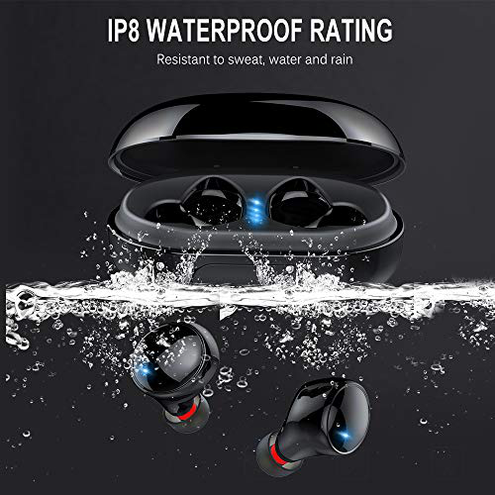 Motast Auricolari Bluetooth Cuffie Bluetooth Senza Fili IPX8 Impermeabile Cuffie In-Ear Bluetooth 5 0 3500mAh 150H Playtime Deep Bass HD Stereo Cuffie Wireless Sport IOS Android Motast 0779207370246 Nuovo modello C5