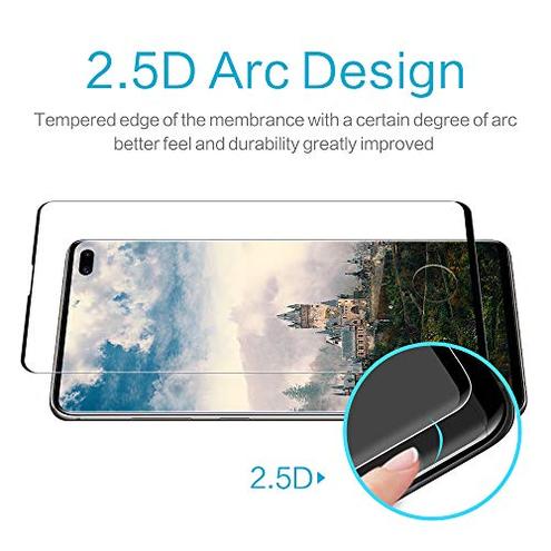 DOSMUNG 2 Pack Vetro Temperato Samsung Galaxy S10 Plus 9H Durezza Curva 3D Copertura Completa Compatibile Scanner Impronta Digitale HD Alta Trasparenza Samsung S10 Plus Pellicola Protettiva DOSMUNG 8711281002974 CE
