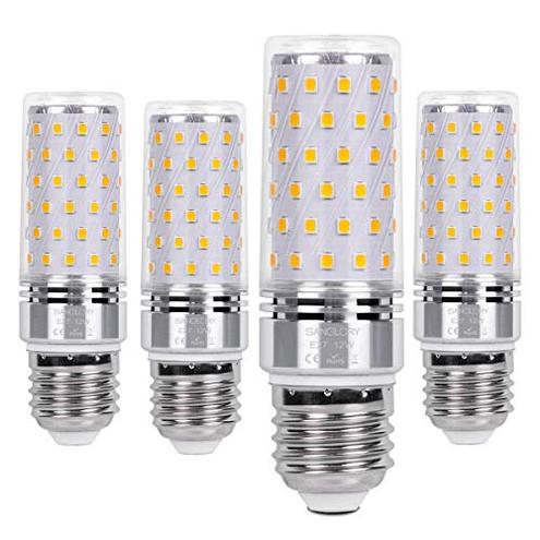 SanGlory 4 Pezzi Lampadina LED E27 12W Equivalenti 100W Incandescenza Lampadine Mais LED E27 Calda 3000K 1350LM Alta luminosit Risparmio EnergeticoNon Dimmerabile E27 Calda SanGlory E27 Calda Illuminazione