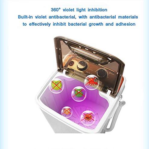 XSJZ Lavatrice 3kg Monotubo Viola Risparmio Energetico Risparmio Energetico Acqua Semiautomatica Piccola Mini Lavatrice Adatto Uso Domestico Lavatrice Frontale GYL Lavatrice 6951103096572