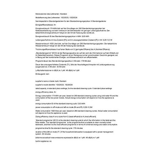 Klarstein Amazonia 6 - Lavastoviglie Tavolo Classe 1380 Watt 6 Coperti 6 Programmi Risparmio Energetico Bassa Rumorosit Pannello Controllo Intuitivo Argento KLARSTEIN 4260467721887 Argento principali elettrodomestici
