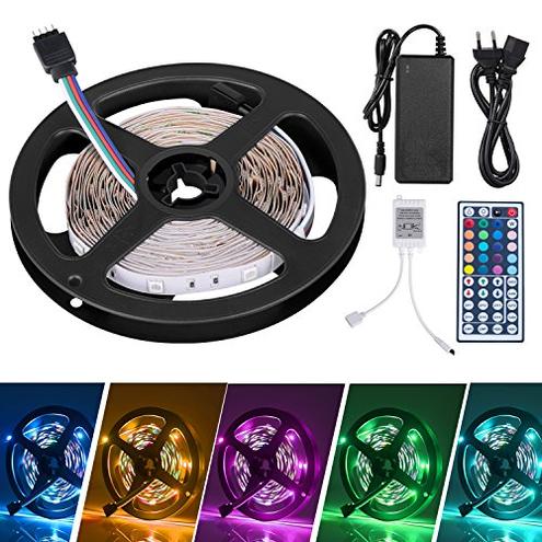 LED Striscia 5M RGB 5050 Duractron led striscia 150 led Natale Feste Decorazioni Non Impermeabile SUNNEST 6005092245029 Multicolore Illuminazione