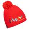 Berretto Bottero Ski Pompom (Colore: rosso, Taglia: UNI)