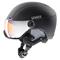 Casco sci Uvex Hlmt 400 Visor style (Colore: Black, Taglia: 53/58)