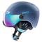 Casco sci Uvex Hlmt 400 Visor style (Colore: navyblue mat, Taglia: 58/61)