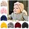 New Gold Velvet Turban Hat For Baby Kids Newborn Beanie Stylish Top Knot Ear Caps Headwear...