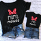 Family Tshirts Fashion mommy and me clothes baby girl clothes MINI and MAMA Fashion Cotton...