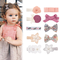 10 Colors Baby Girls Print Hairpin Knotted Bownot Hairpin Cute Lace Pearl Flower Hair Clip...