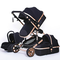Luxurious Baby Stroller 3 in 1 Genuine Portable Baby Carriage Fold Pram Aluminum Frame Hig...