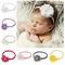 10pcs/lot Chiffon Flower with Pearl Baby Elastic Headband Nylon Newborn Toddler Hair Bands...