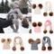 Winter Hats Ears Girls Boys Cap+Scarf 2Pcs Kids Set Baby Keep Warm Children Knit Wool Fur...