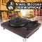 33, 45, 78 RPM Record Player Antique Gramophone Turntable Disc Vinyl Audio RCA R/L 3.5mm O...
