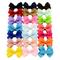 20Pcs/lot Colorful Handmade Solid Grosgrain Ribbon Bow-knot Hair Pin Girls Princess Bow Ti...