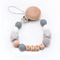 Custom Baby Personalize Name pacifier Clip Silicone Beech Beads Binky Clip Pacifier Chain...