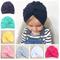 Cute Cotton Blend Baby Turban Hat Newborn Beanie Caps Kids Girls Headwear Infant Toddler S...