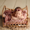 newborn photography accessories Photo Shooting props Baby Infant Vintage woven basket reci...