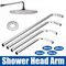 30/40/50/60cm Stainless Steel Shower Head Extension Arm Kit 90°Wall Mounted Tube Rainfall...