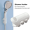 3pcs Shower Head Holder suction cup Reusable Durable Removable Silicone Shower Handheld Ba...