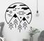 Adesivo murale viaggio montagna minimalista
