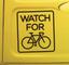Sticker auto attenti ai ciclisti
