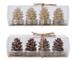 KAEMINGK Confezione 4 Candeline Tealight A Forma Di Pigna 2Ass Natale Candele