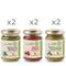 6 vasetti misti 130 gr: 2 Pesto di Rucola BIO - 2 Pesto Rosso BIO - 2 Pesto alla Genovese...